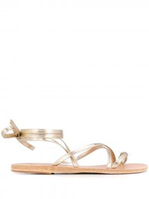 Сандалии Morfi Ancient Greek Sandals. Цвет: золотистый