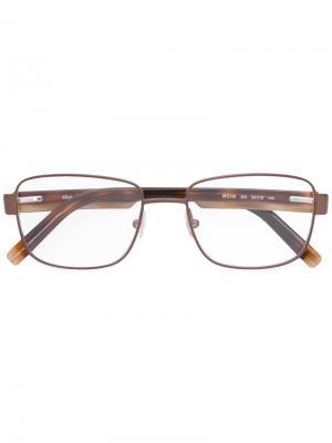 Очки в квадратной оправе Salvatore Ferragamo Eyewear. Цвет: коричневый