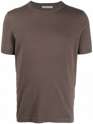 Однотонная футболка кроя слим Daniele Alessandrini. Цвет: зеленый