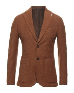Пиджак LUIGI BIANCHI ROUGH. Цвет: коричневый