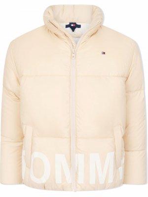TEEN padded high-neck jacket Tommy Hilfiger Junior. Цвет: нейтральные цвета