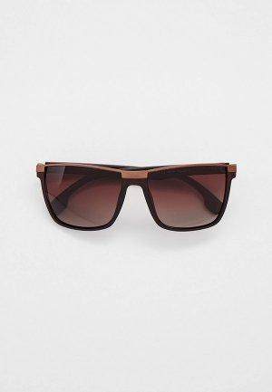Очки солнцезащитные Thom Richard с поляризационными линзами. Цвет: коричневый