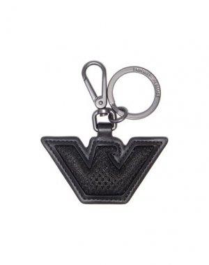 Брелок для ключей EMPORIO ARMANI. Цвет: черный