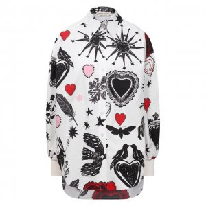 Хлопковая рубашка Alexander McQueen. Цвет: разноцветный