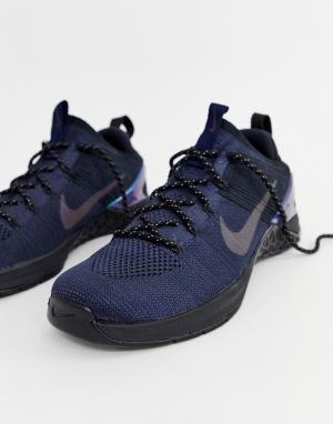 Черные кроссовки Metcon dsx Flyknit av3839-400 Nike Training. Цвет: черный