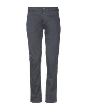 Повседневные брюки 2 MEN. Цвет: свинцово-серый
