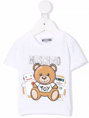 Teddy-bear print T-shirt Moschino Kids. Цвет: белый