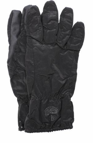 Утепленные перчатки с манжетами на резинке Stone Island. Цвет: черный