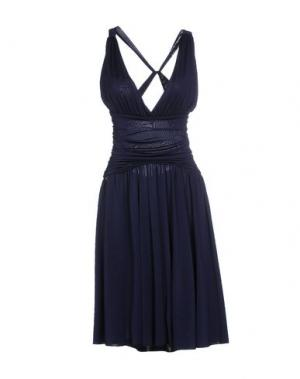 Платье до колена EIGHTH SIN. Цвет: темно-синий