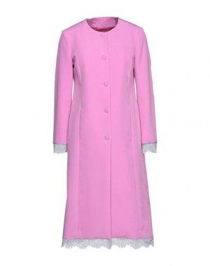 Легкое пальто BLUMARINE. Цвет: светло-фиолетовый