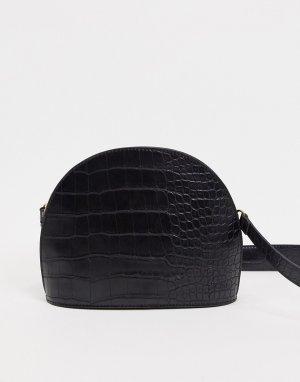 Большая сумка через плечо -Черный ASOS DESIGN