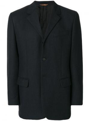 Однобортный пиджак Romeo Gigli Pre-Owned. Цвет: синий