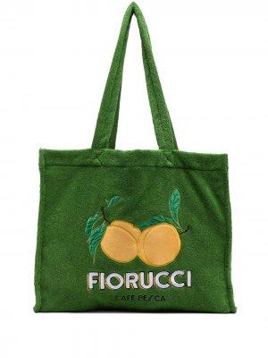 Сумка-тоут с логотипом Fiorucci. Цвет: зеленый