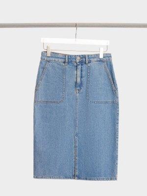 Джинсовая юбка SET. Цвет: синий