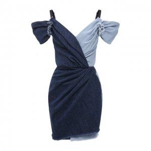 Джинсовое платье Dolce & Gabbana. Цвет: синий