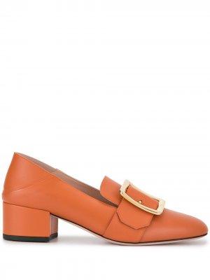 Туфли-лодочки с квадратным носком и пряжками Bally. Цвет: оранжевый