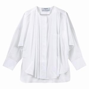 Блузка свободная, круглый вырез, длинные рукава KENTA MATSUSHIGE X LA REDOUTE. Цвет: белый