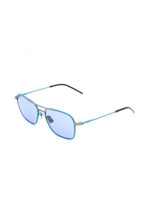 Очки солнцезащитные с линзами Italia Independent. Цвет: 027 078 голубой, синий