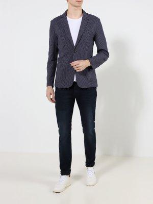 Мужской пиджак Trussardi Jeans. Цвет: siniy