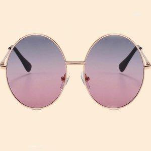 Детские солнечные очки с металлическим каркасом SHEIN. Цвет: цвет хамелеон