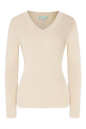 Бежевый пуловер Akhmadullina DREAMS. Цвет: бежевый
