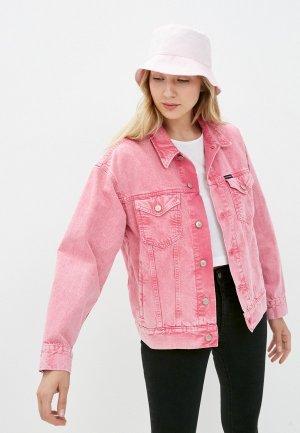Куртка джинсовая Calvin Klein Jeans. Цвет: розовый