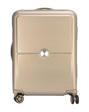 Чемодан/сумка на колесиках DELSEY. Цвет: бежевый