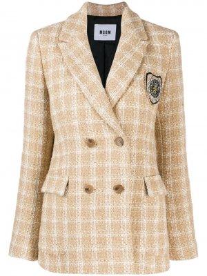 Двубортный твидовый пиджак MSGM