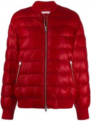 Стеганая куртка-бомбер Woolrich. Цвет: красный