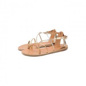Кожаные сандалии Meloivia Ancient Greek Sandals. Цвет: золотой
