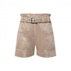 Джинсовые шорты Brunello Cucinelli. Цвет: бежевый