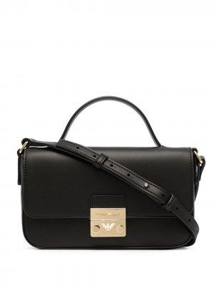 Small foldover shoulder bag Emporio Armani. Цвет: черный