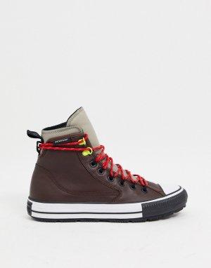 Коричневые водонепроницаемые кожаные ботинки Chuck Taylor All Star Terrain-Коричневый Converse
