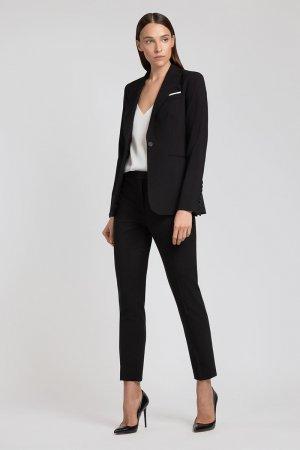 Зауженные шерстяные брюки VASSA&Co. Цвет: черный
