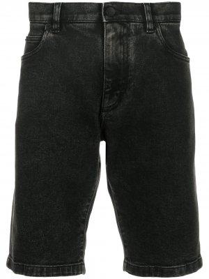 Джинсовые шорты с логотипом Dolce & Gabbana. Цвет: черный