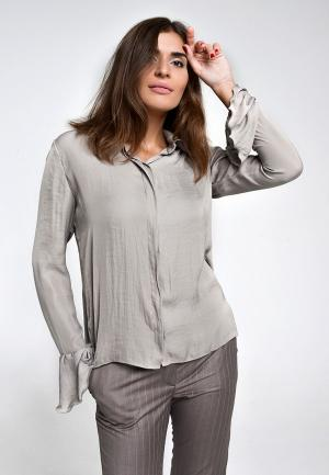 Блуза Elena Andriadi MP002XW1AXF0. Цвет: серый