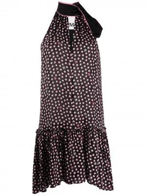 Платье с вырезом халтер и принтом 8pm. Цвет: черный
