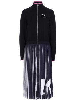 Платье с плиссированной юбкой KARL LAGERFELD