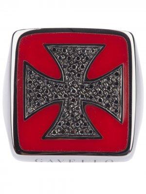 Перстень с крестом Gavello. Цвет: золотистый