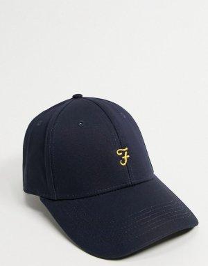 Темно-синяя кепка с логотипом -Темно-синий Farah