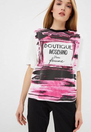 Футболка Boutique Moschino. Цвет: розовый