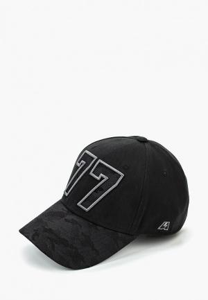 Бейсболка Atributika & Club™ №77. Цвет: черный