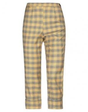 Повседневные брюки I'M ISOLA MARRAS. Цвет: желтый