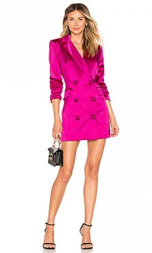 Мини платье blazer MILLY. Цвет: фуксия