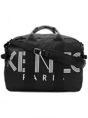 Дорожная сумка с логотипом бренда Kenzo. Цвет: черный