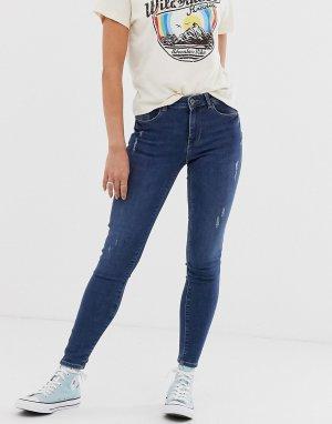 Укороченные джинсы скинни Bree-Синий Pieces