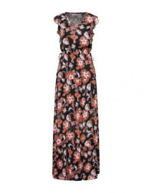 Длинное платье GAUDÌ. Цвет: оранжевый
