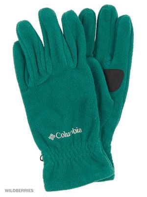 Перчатки Columbia. Цвет: зеленый