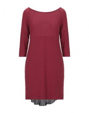 Короткое платье FRACOMINA. Цвет: красно-коричневый