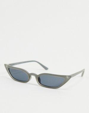 Серые солнцезащитные очки кошачий глаз -Серый AJ Morgan